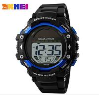 Часы Skmei Solar 1129 солнечная батарея Blue