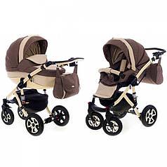 Детская коляска 2 в 1 Adamex Barletta 50 % (кожа)