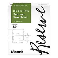 Трости для сопрано саксофона D`ADDARIO Reserve - Soprano Sax #2.0 - 10 Box