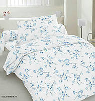 Тканина бязьGold - Сакура блакитна