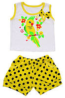 Комплект для девочки: майка и шорты (кулир)