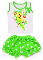Комплект для девочки: майка и шорты (кулир) , фото 1
