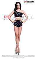 """Комплект топ (с чашечками) +шорты """"Меридиан""""  для занятий  фитнесом,exotic pole dance, pole dance."""