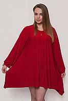 Женская нарядная туника красная 601, фото 1