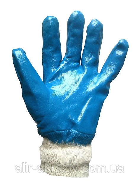 Перчатки хлопчатобумажные нитриловые и манжетом резинкой