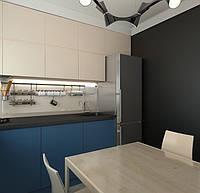 Кухня Premium BLUM-029 Крашеные синие фасады матовые