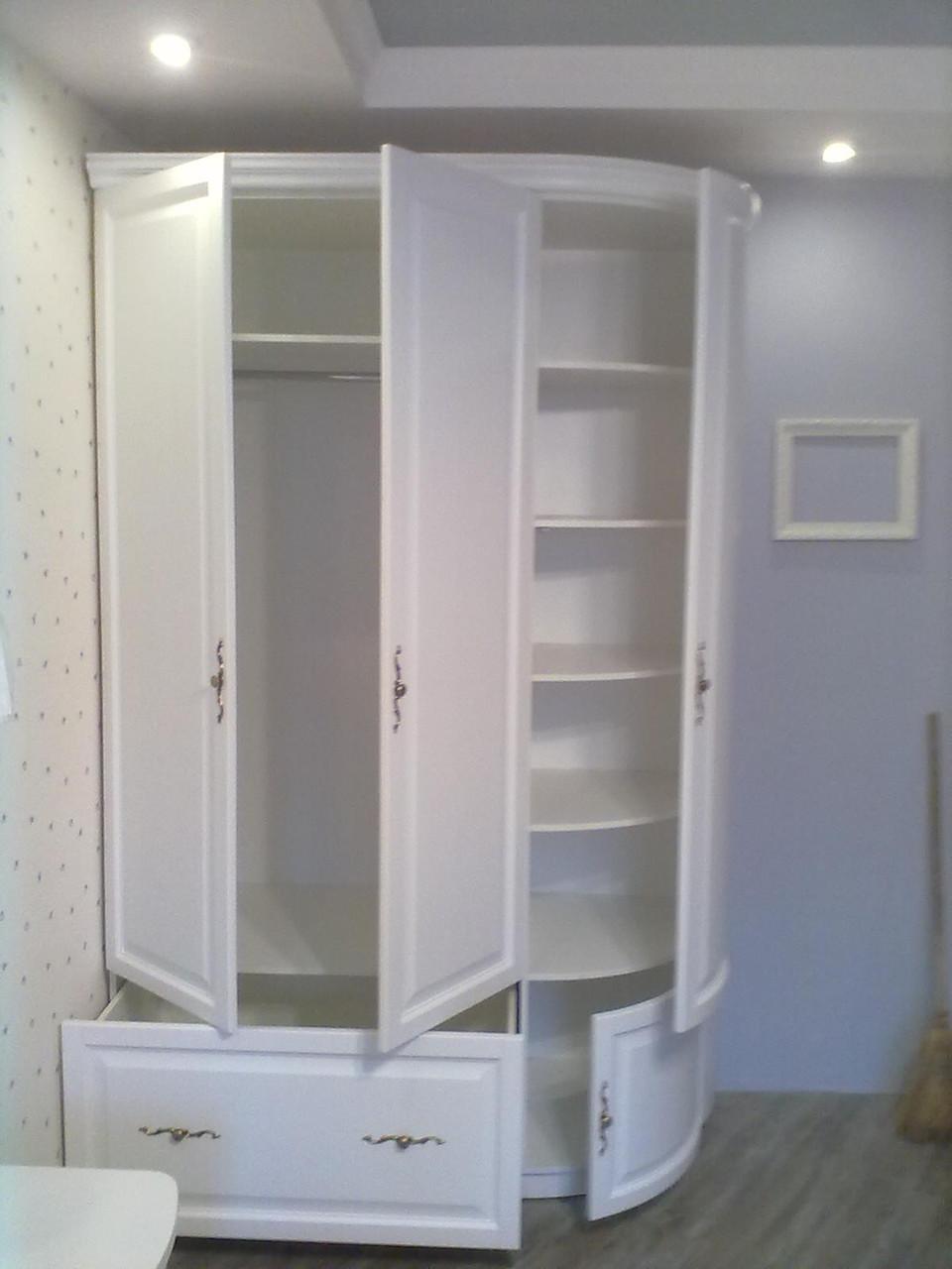 Шкаф 1500х600х2400 с радиусными фасадами из МДФ