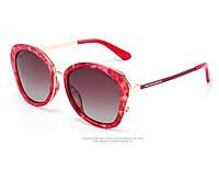 Брендовые женские солнцезащитные очки  (15175) red, фото 1