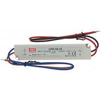 Импульсный герметичный блок питания LPH-18-12, 12 вольт 18 Вт