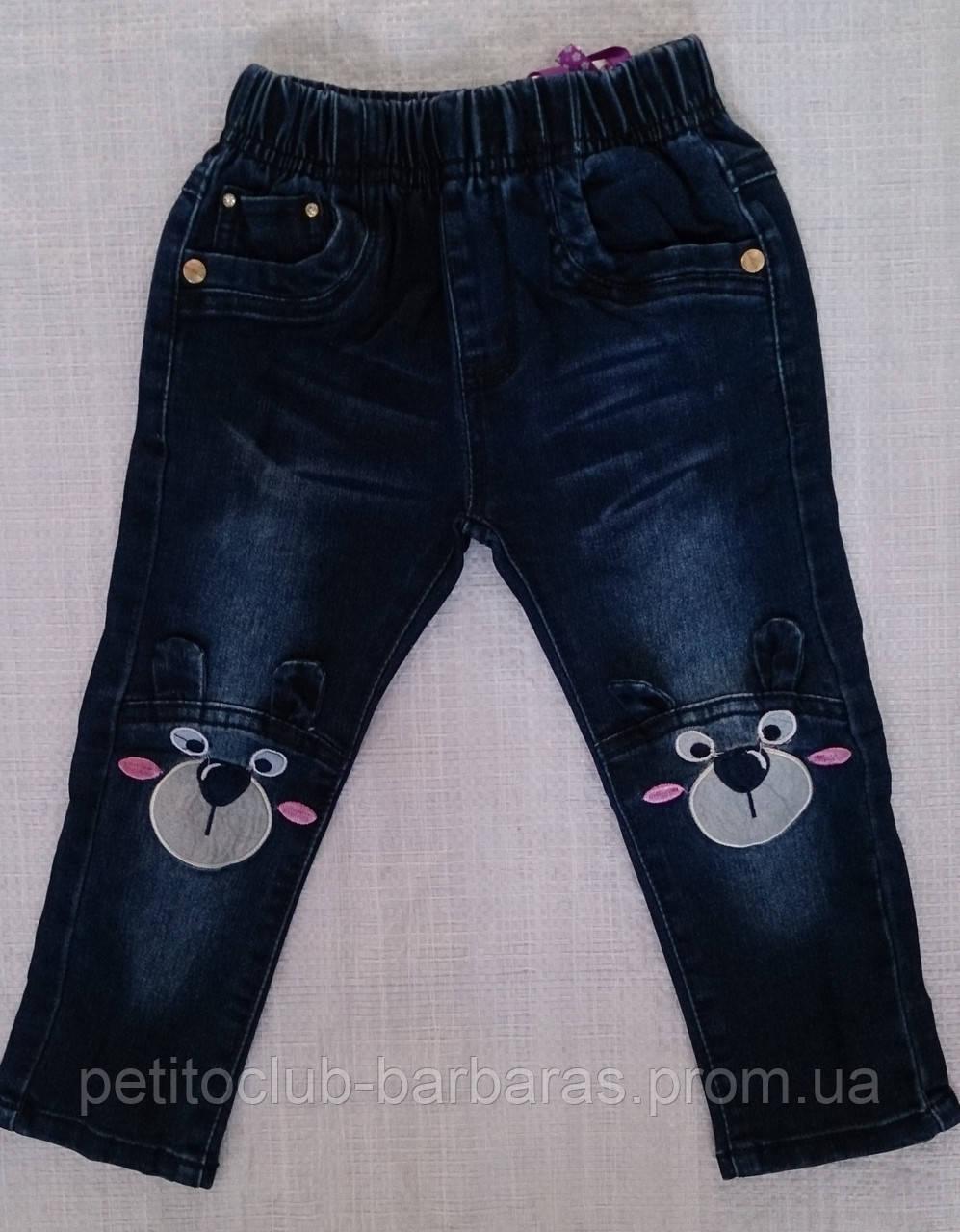 """Детские джинсы для девочки """"Мышка"""" р.92/98 (Grace, Венгрия)"""