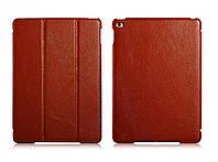 Чехол кожаный для iPad Air 2 - Icarer Litchi Series, коричневый