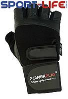 Перчатки  PowerPlay для тренажерного зала ЧЕРНЫЕ Flex Pro