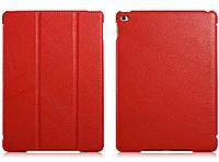 Чехол кожаный для iPad Air 2 - Icarer Litchi Series, красный