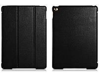 Чехол кожаный для iPad Air 2 - Icarer Litchi Series, черный