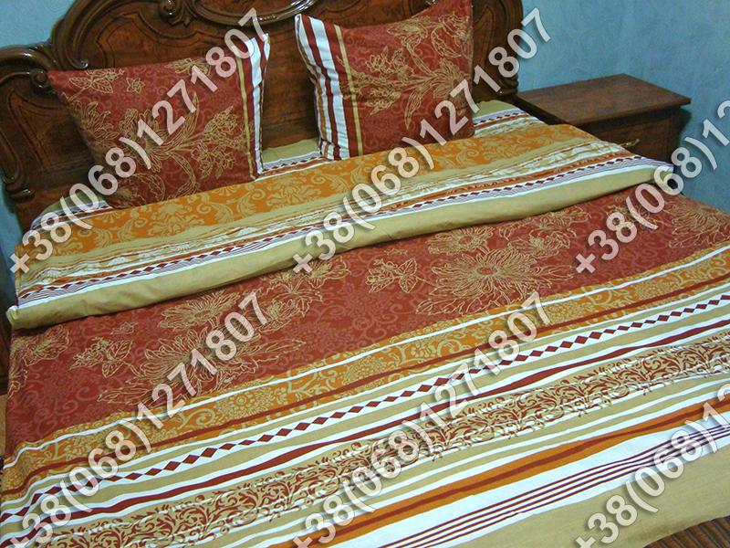 Постельное белье ранфорс - двуспальный комплект (0872)