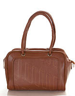 Кожаная сумка-саквояж