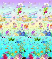 """Коврик в детскую комнату BABYPOL """"Подводный мир"""" 180*200 см"""