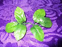 Листочек розы зеленый большой, 15 см
