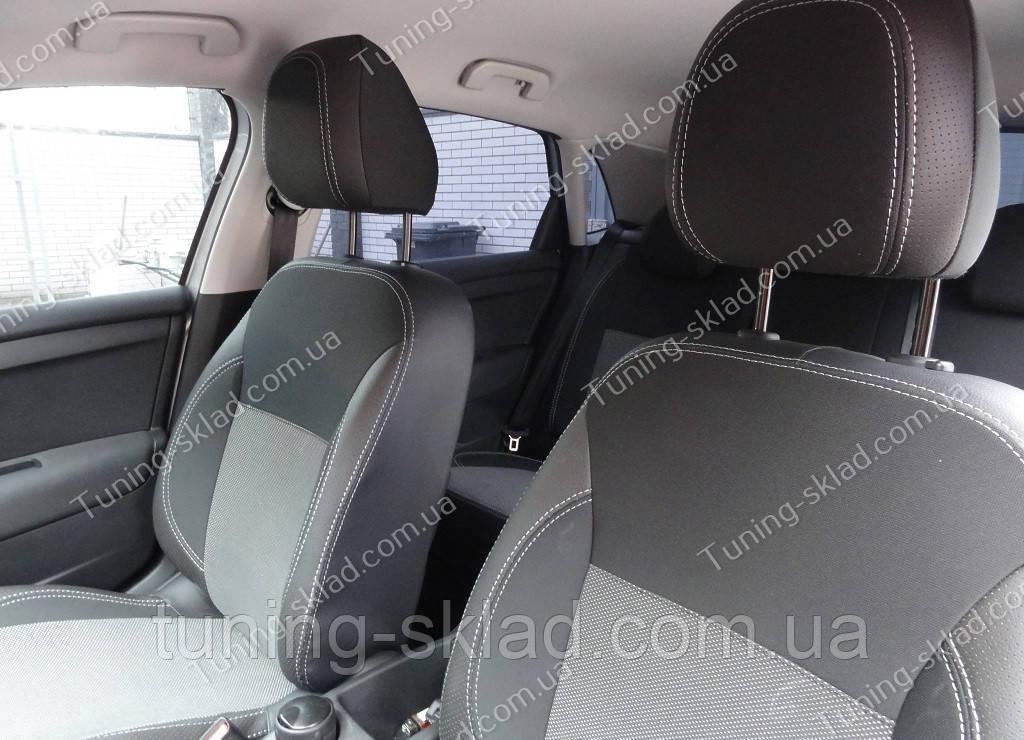 Чехлы на сиденья Ситроен С4 (чехлы из экокожи Citroen C4 стиль Premium)