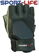 Перчатки для тренажерного зала PowerPlay кожаные , неопрен