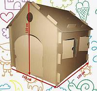 Картонный домик-раскраска для детей (120х110х110)