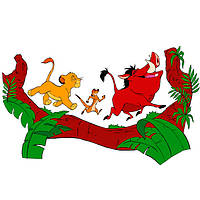 Детские виниловые наклейки Король Лев