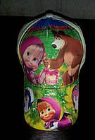 Бейсболка для девочек детская Маша и Медведь