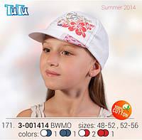 Бейсболка для девочки TuTu арт.171. арт.  3-001414(52-56)