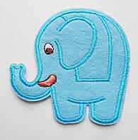 Аппликация клеевая. Голубой слоник