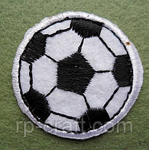 Аплікація клейова. Футбольний м'яч, 36х36 мм