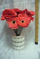 МАК одиночка красный, 40 см (50 шт)