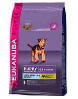 сухий корм для собак EUKANUBA Puppy & junior large 15 кг