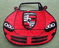 Аппликация клеевая. Красная машина