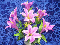 Букет цветов лилий -7 (16 шт в уп), фото 1