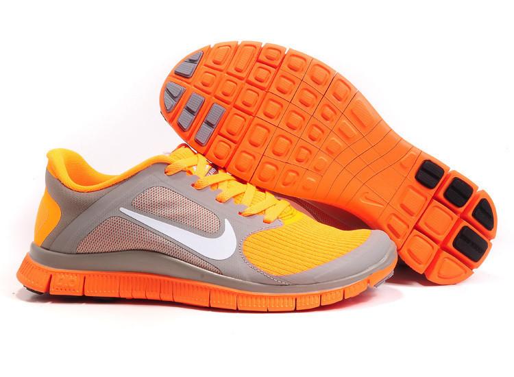 Кроссовки Nike Free Run 4.0 V3 Orange Оранжевые женские
