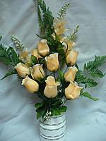 Бутон роз крупных  кукурузка (10  шт в уп)