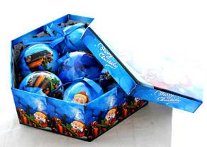 """Елочная игрушка """"Дед мороз с подарками"""" Пластик Матовый, фото 2"""