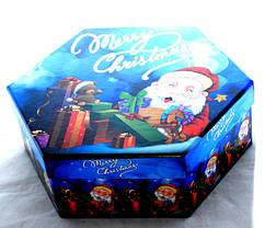 """Елочная игрушка """"Дед мороз с подарками"""" Пластик Матовый, фото 3"""