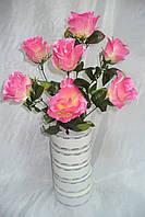 Букет роз слоеных  ( 8 шт в уп), 55 см, фото 1