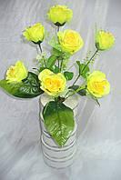 Роза серебро три листа ( 12 шт в уп), 43 см
