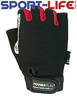 Перчатки для фитнеса и атлетики PowerPlay из прочного кожзаменителя Пауэрлифтинг