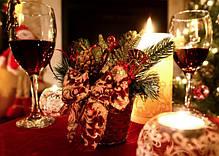Корзинка новогодняя украшенная золото + красная 0502 RG, фото 3