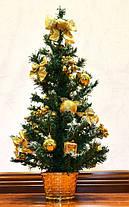 Елка искусственная украшенная  золото 0456 G, фото 2