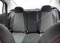 Чехлы на сиденья Ситроен С-Элизе (чехлы из экокожи Citroen C-Elysee стиль Premium), фото 1