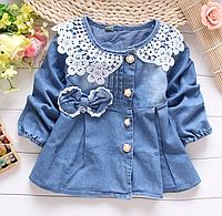 Джинсове платтячко-пальто для дівчаток-немовлят