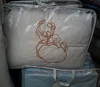 Детское однотонное белоснежное  постельное белье в кроватку Ангел  из 8 предметов  S891
