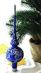 """Новогодняя Верхушка Стекло """"Морозный Узор"""""""
