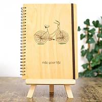 Деревянный блокнот Ride your life