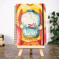 Деревянный блокнот Your little ocean