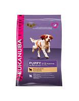 сухий корм для собак EUKANUBA Puppy & junior lamb & rice 12 кг